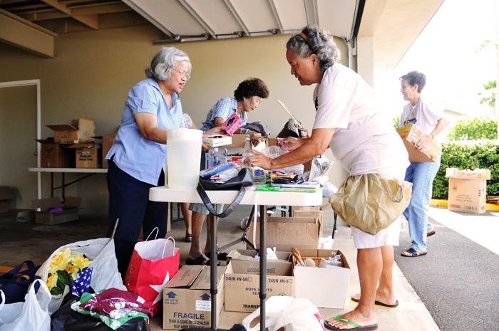 Sorting Parish Donations