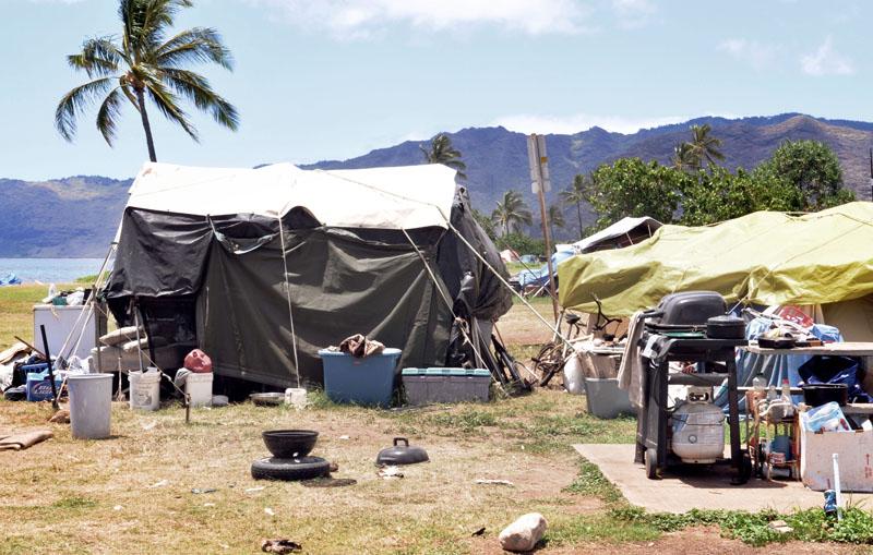 Homeless Camp, Waianae Coast